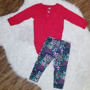 CARTERS baby girl outfit 6M